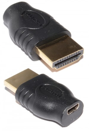 HDMI Micro D Female Socket to Standard HDMI Plug Adapter Converter