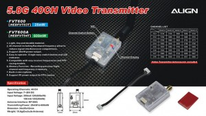 HEDFVT03 5.8G Video Transmitter(25mW/40CH)