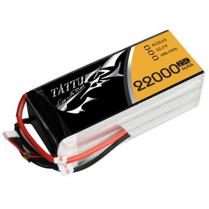 TA-25C-22000-6SS1P Tattu 22000mAh 22.2V 25C 6S1P Lipo Battery Pack