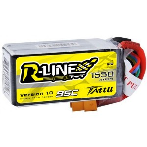 TA-RL-95C-1550-4S1P Tattu R-Line 1550mAh 95C 4S1P lipo battery pack
