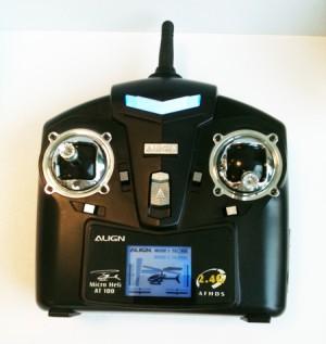 Radiocomando con display per simulatori AT100ALIGN