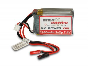 GP1950RX 7,4V 1950mAh 2Cell 2S2P