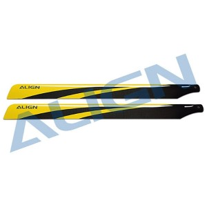 HD650A 650 Carbon Fiber Blades-Yellow
