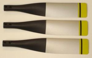 Propeller 13x9 (3-blade) For Big T28, silver FMSMI107-SILVER