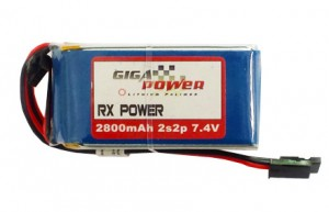 GP2800RX 7,4V 2800mAh 2Cell 2S2P