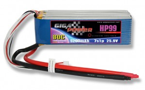 GP5200HP7S-LW GP5200HP7S-LW (long wire) 25,9V 5200mAh 7Cell 80C continui 120C picco
