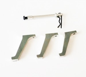 ALUMINUM CANOPY SUPPORT and LANDING GEAR  - HYPER 400 H3D-001113