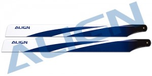 HD380B Carbon Fiber Blades - Blue