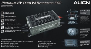HES16003 RCE-BL160A Brushless ESC