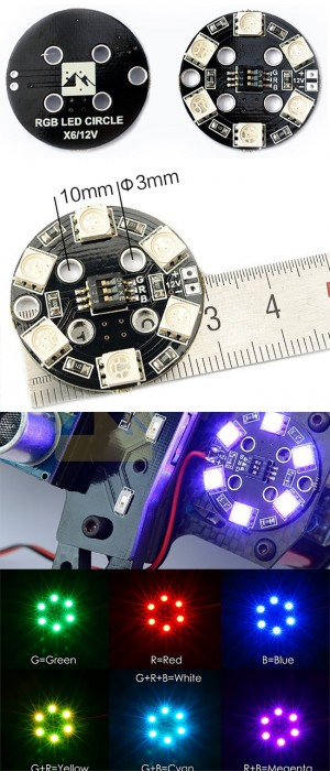 Matek RGB LED CIRCLE X6/12V