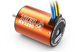 SK-400005-08 TORO 3200KV 4P BL MOTOR FOR 1/10 CAR