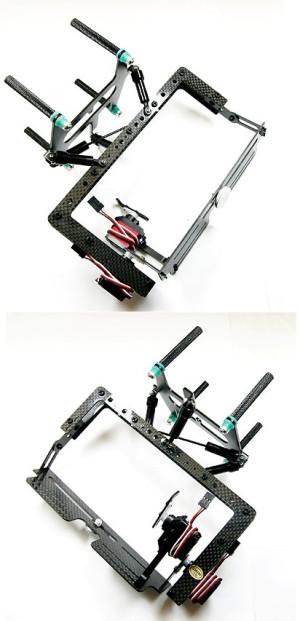 P4 Camera mount B    2 red servos TQ0010