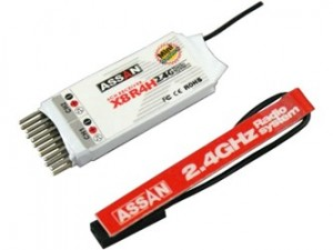 AS035 X8-R4 H Assan 2.4GHz 4Ch Receiver