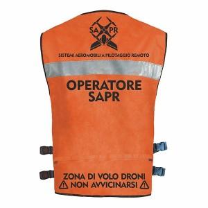Giubbino Operatore SAPR senza maniche Colore ARANCIO