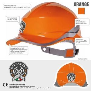 Casco Operatore SAPR Colore Arancio
