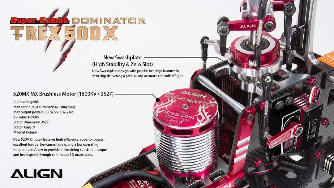 T-REX 500X Dominator Super Combo